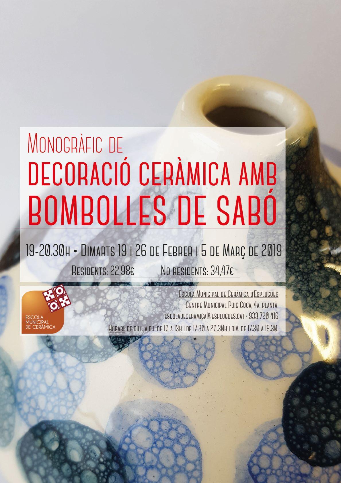 DECORACIÓ AMB SABÓ